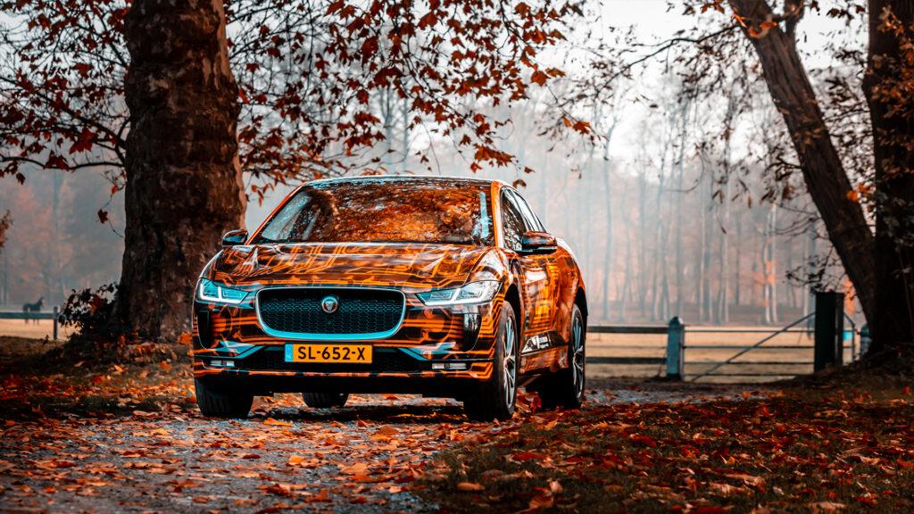 Wrapped Jaguar i-Pace