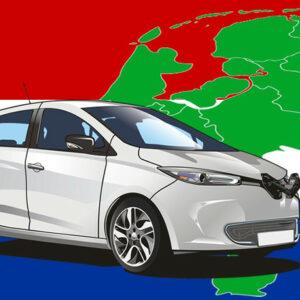 elektrische auto's in Nederland