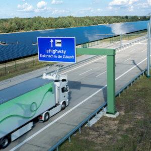 EHighway voor hybride vrachtwagenss