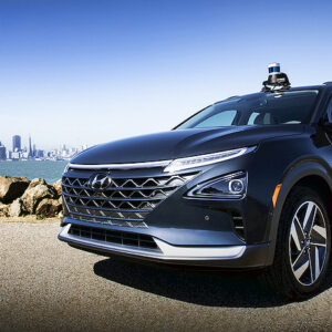 Autonoom rijdende Hyundai NEXO