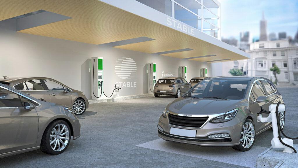 Gerobotiseerde laadstations voor autonome voertuigen