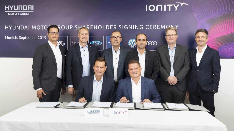 Kia Hyundai deelnemers Ionity laadnetwerk
