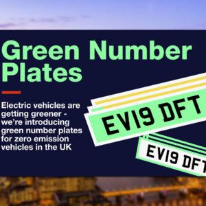 Engeland groene kentekenplaten