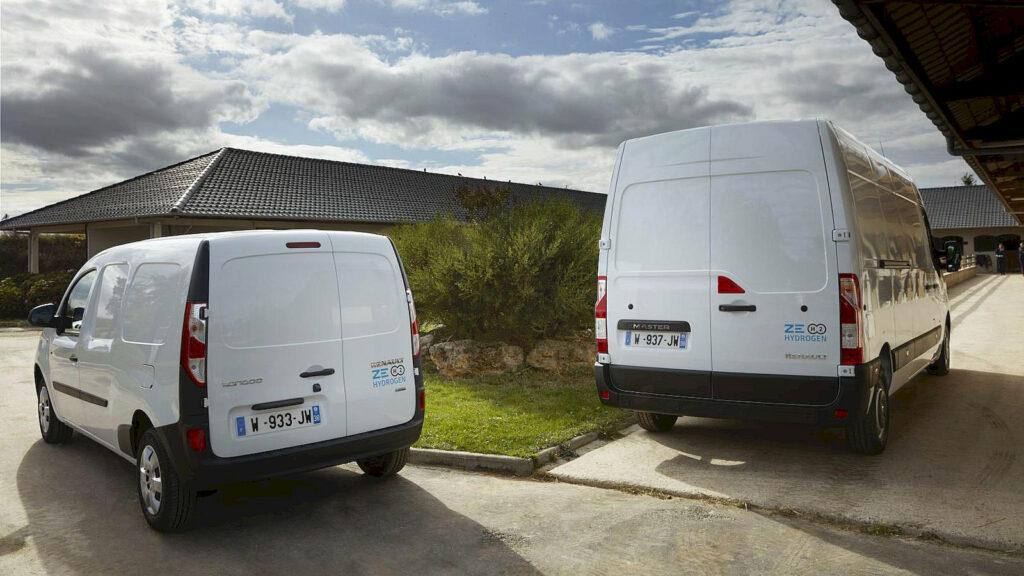 Renault bedrijfswagens op waterstof