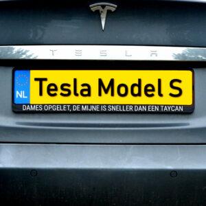 Tesla Model S sneller Porsche Taycan