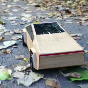 Cybertruck karton bouwpakket knutselen schaalmodel
