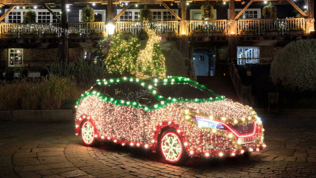 Nissan Leaf kerstboom