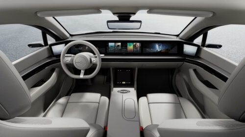 Sony Vision-S dashboard
