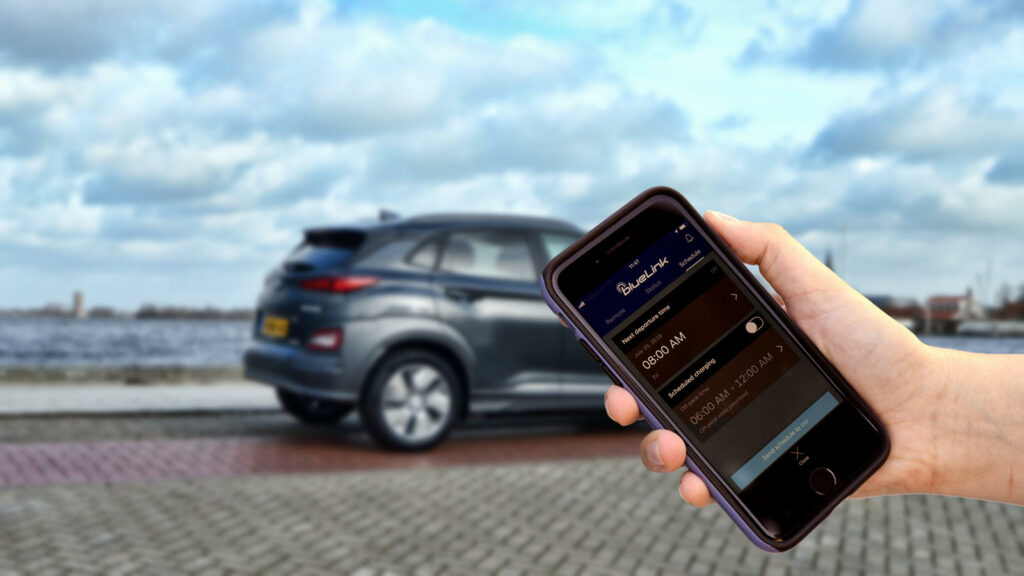 Hyundai Kona Electric model 2020: met Bluelink + smartphone app