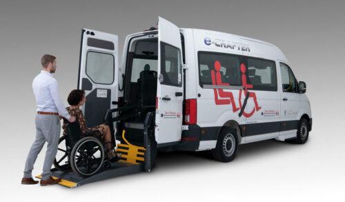 Tribus VW eCrafter elektrische rolstoelbus