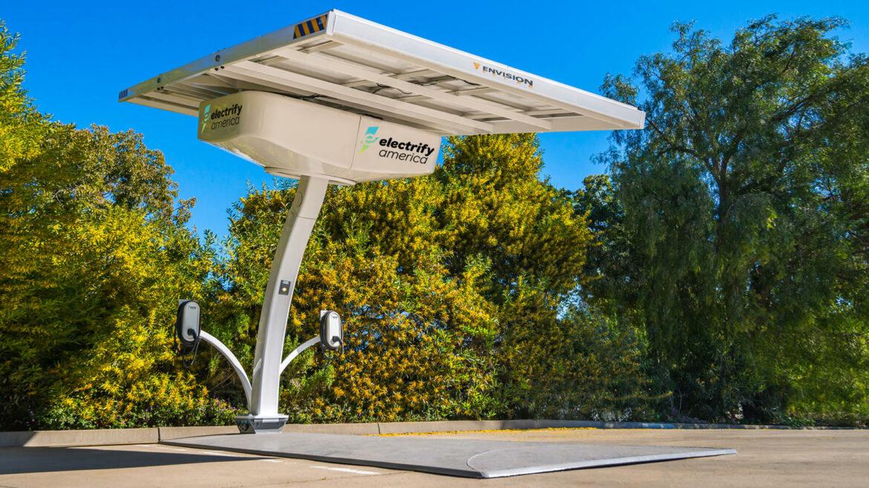 Electrify America solarlaadstations Californië