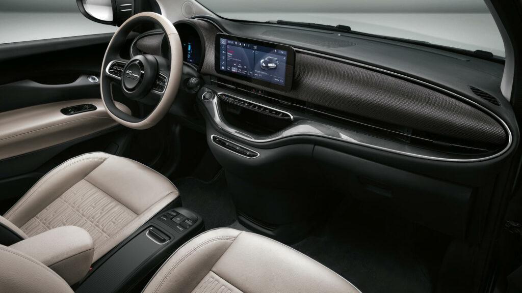 interieur van Fiat 500e