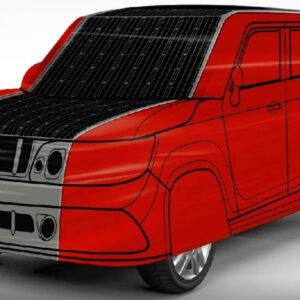 elektrische auto beschermhoes zonnecellen opladen