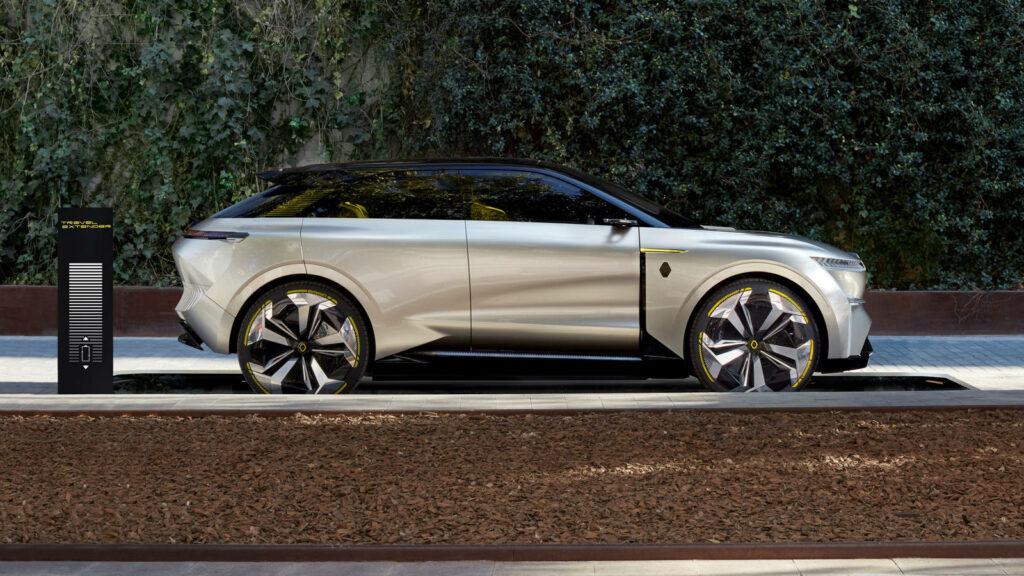 Renault nieuwe modellen 2022, waarvan een op de Morphoz lijkt