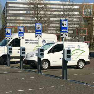 Universiteit Leiden laadpalen elektrische auto's