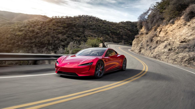 Tesla Roadster sprint