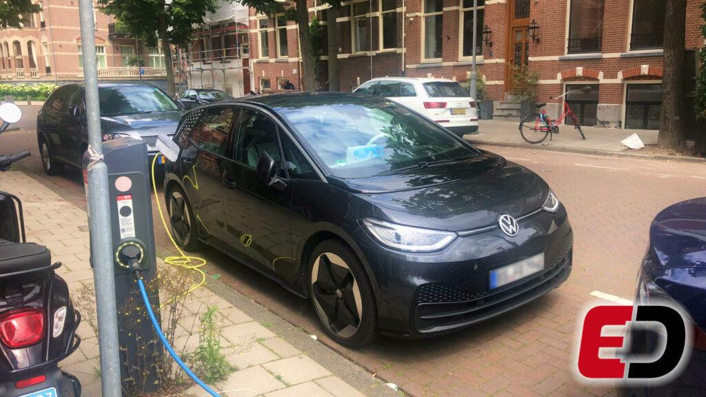 Vokswagen ID.3 in Amsterdam gespot