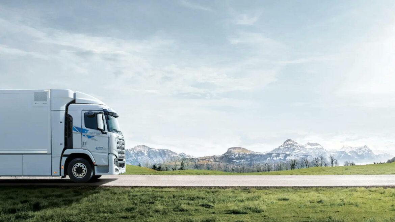 Hyundai waterstoftrucks Zwitserland