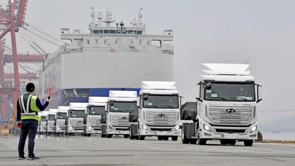 Hyundai brandstofcel waterstoftrucks zwitserland