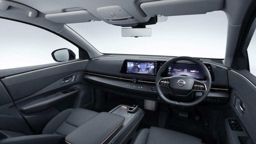 Interieur van de Nissan Ariya