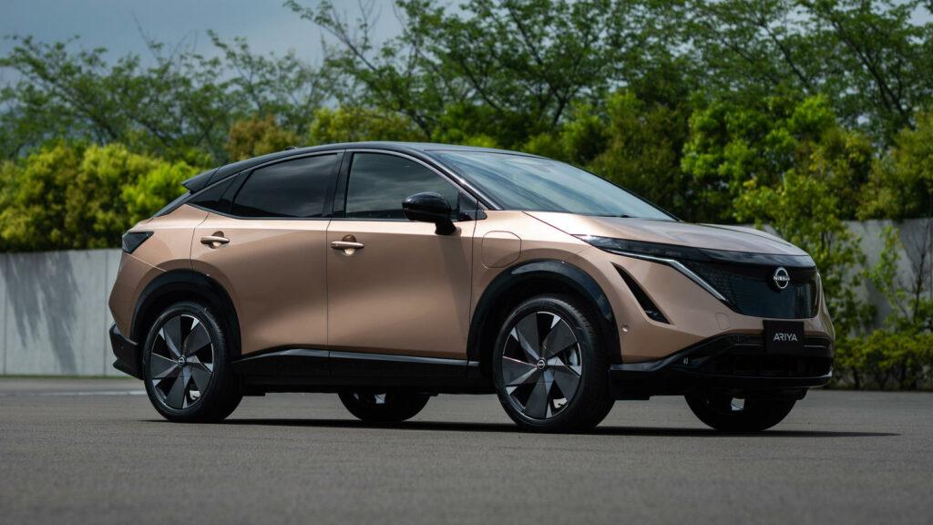 Elektrische Nissan Ariya voorzijde