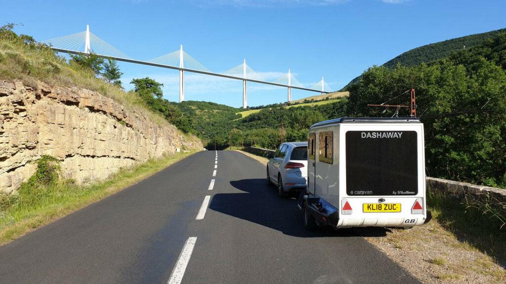 Dashaway caravan elektrische auto