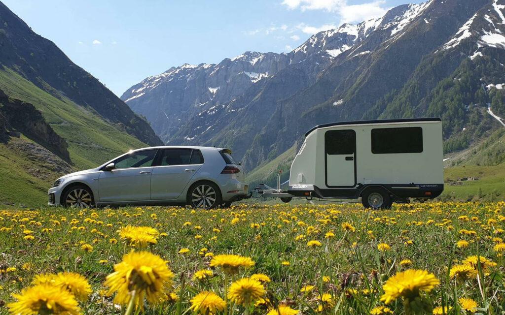 Dashaway caravan trekken elektrische auto