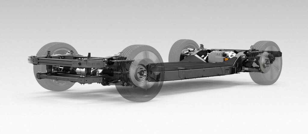 Canoo skateboard chassis