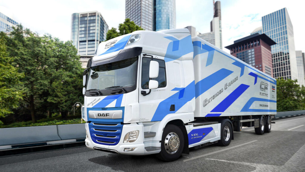 DAF CF Electric actieradius