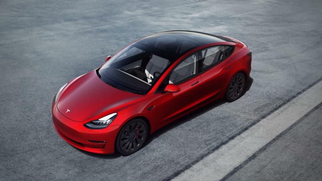 Tesla Model 3 actieradius verbeteringen modeljaar 2021