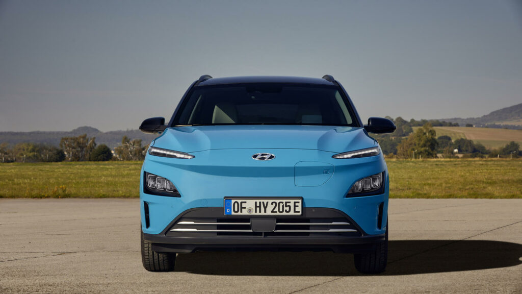 nieuw front voor de Hyundai Kona Electric 2021