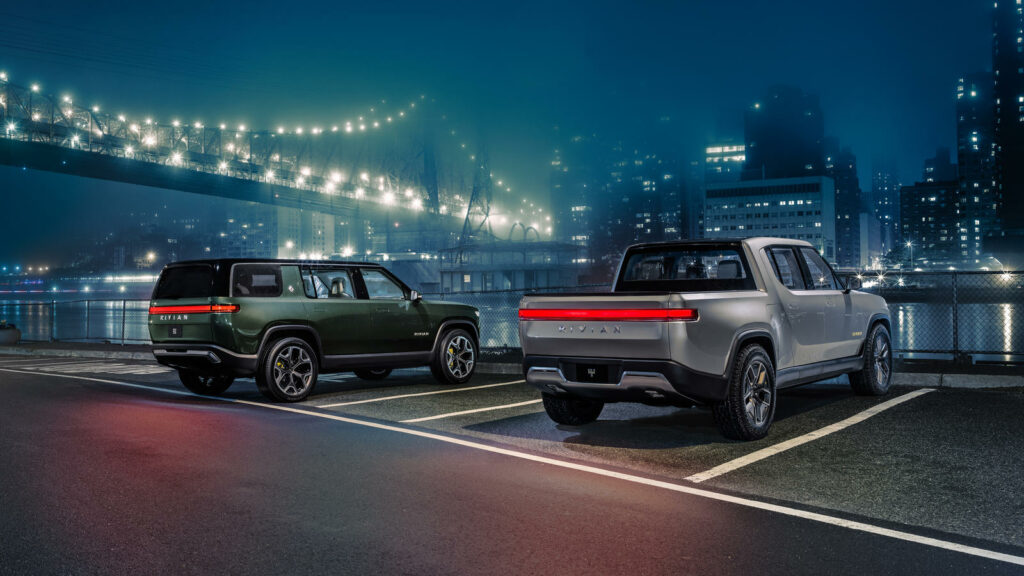 Rivian elektrische pick-up en SUV