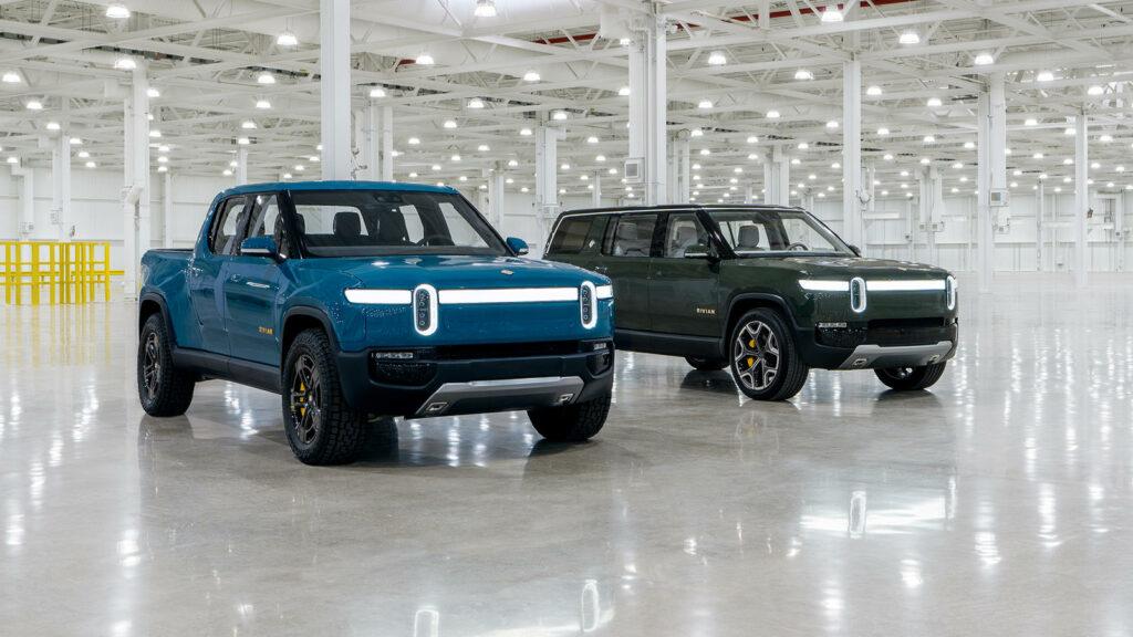 Rivian elektrische pick-up en SUV R1T en R1S
