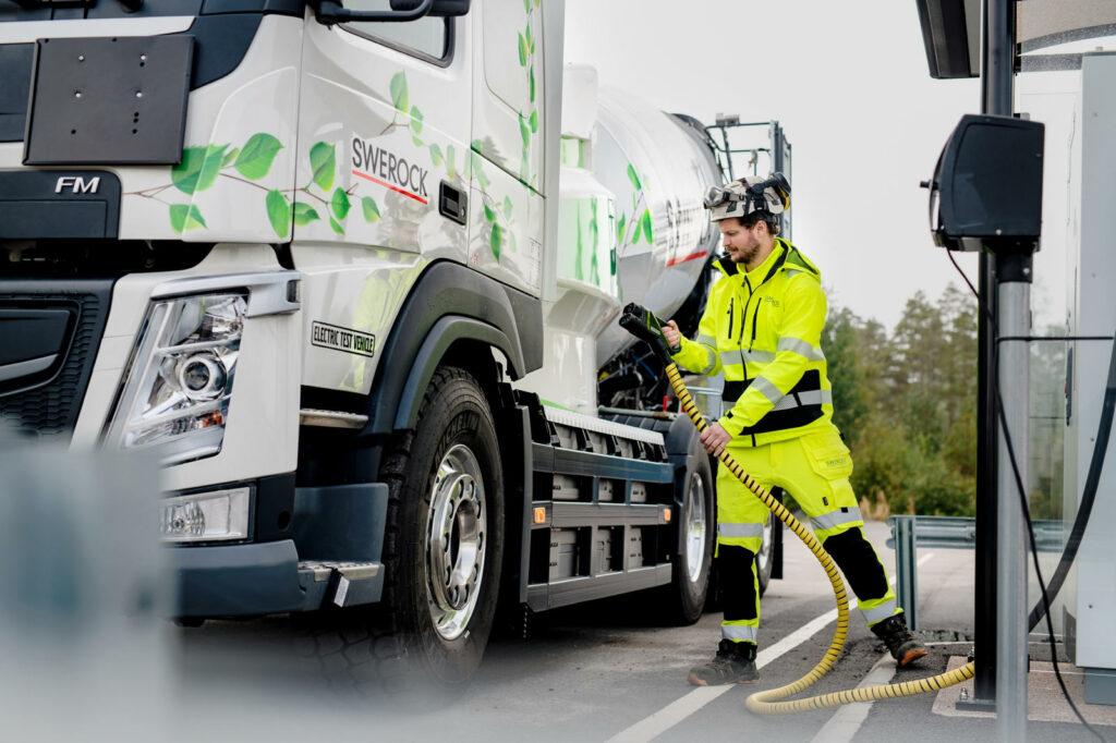 Zware elektrische truck opladen Volvo