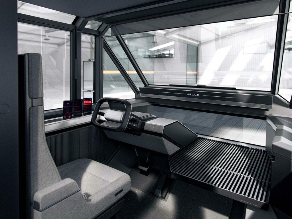 Canoo elektrische bestelwagen Driver Forward concept