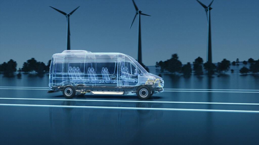 Mercedes EVP platform elektrische bestelwagens