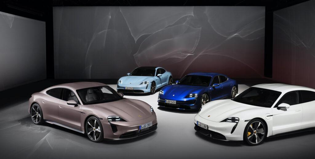 Porsche Taycan modellen