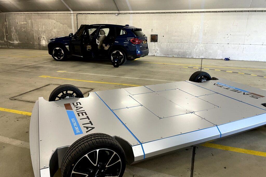 Saietta P1-platform en BMW iX3