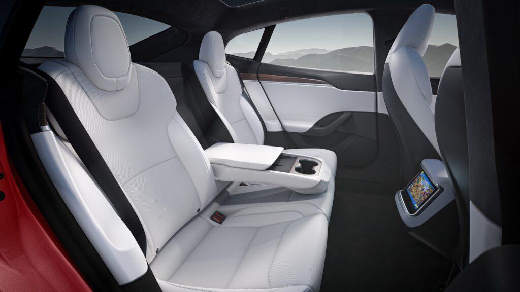 Tesla Model S Plaid achterbak display