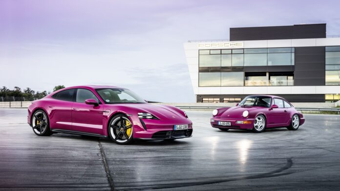 Porsche Taycan model 2022