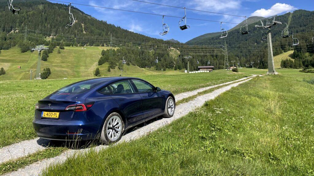 Naar de Alpen met de Tesla Model 3