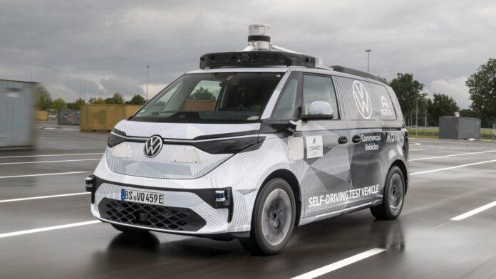 Autonoom rijdende Volkswagen ID.Buzz